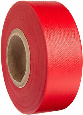 "Merco M220 Red Flagging Tape - 1-3/16"" x 300' - Convenience Pack of 72 Rolls"