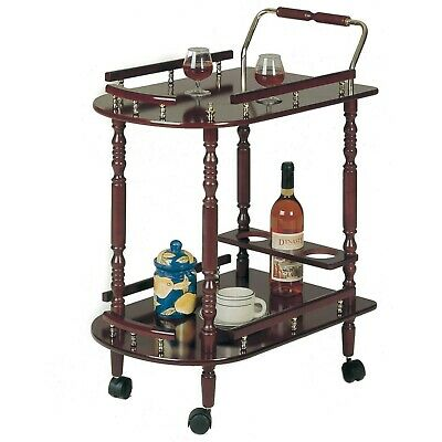 Vintage Serving Bar Cart Wheels Rolling Antique Liquor Wine Island Tea Coffee