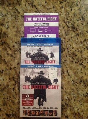 The Hateful Eight (Blu-ray/DVD, 2016, 2-Disc)Authentic US Release