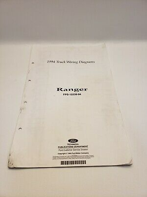 1994 ford ranger pickup truck oem factory electrical wiring diagram manual