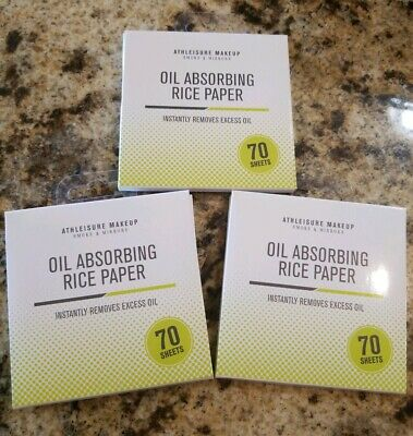 Lot of 3 Athleisure Makeup Oil Absorbing Rice Paper