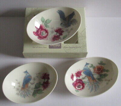 Denby Monsoon Home Boxed Kyoto Set of 3 Dipping Dishes - Please Read.