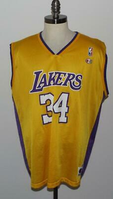 61fba6186f5 Vintage 90s Shaquille O'Neal Champion Jersey 48 XL Los Angeles Lakers LA  Shaq 34