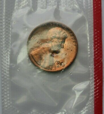 1962 D Lincoln Memorial Cent Uncirculated Penny US Coin In Mint Cello