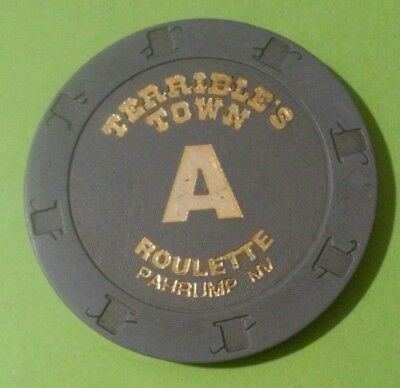 Terribles Town Casino Pahrump, Nevada Gray Letter A Roulette Gaming Chip!