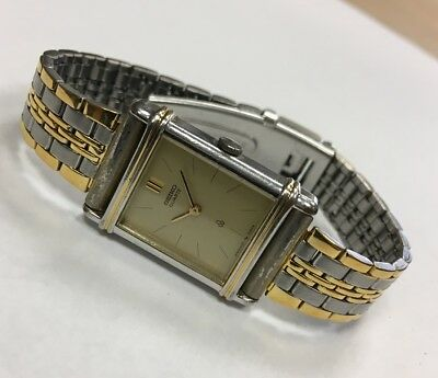 1990 Seiko 1400-524A Palladium & Gold Plated Women's Quartz Watch Running JDM