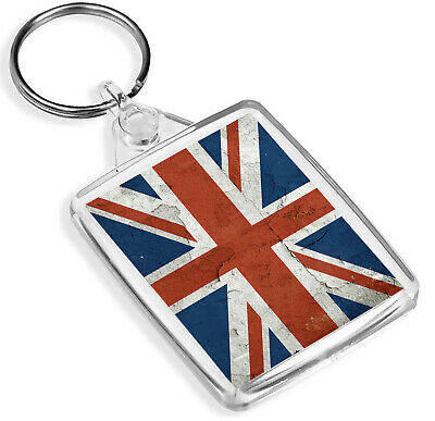 Distressed Paint Union Flag Keyring Great Britain United Kingdom Gift #16072