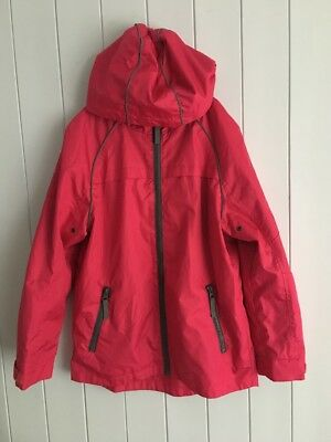 Girls jacket windbreaker size 8-9 years hooded pink GEORGE