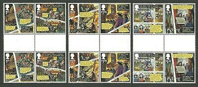 Gb 2016 Great Fire Of London Cartoons Comics Historic Events Gutter Pairs Mnh