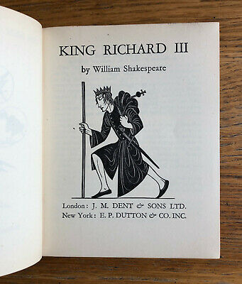 1934-1956 New Temple Shakespeare with engravings by Eric Gill (20 volumes)