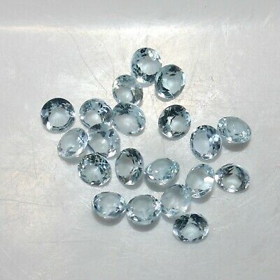 B612 5 x 23mm Large Round Facetted Clear Shank Buttons
