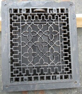 Antique Victorian Cast Iron Heat Grate Vent Register Old Decor 10x12 (C1-B)