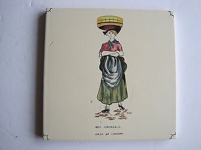 "VINTAGE CARTER ""CRIES OF LONDON"" TILE - RIPE ASPARAGUS c1955"
