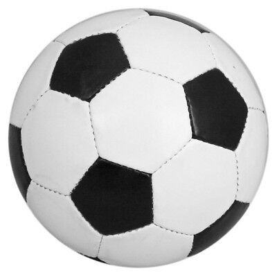Football Size 5 Soccer Ball Traditional Black White PU Leather  UK As Seen On TV