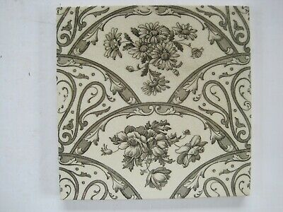 ANTIQUE VICTORIAN TRANSFER PRINT AESTHETIC TILE -  c1890-1911 SHERWIN & COTTON