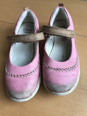 Clarks Trigenic Girls Pink Casual Shoes 12.5 F Used