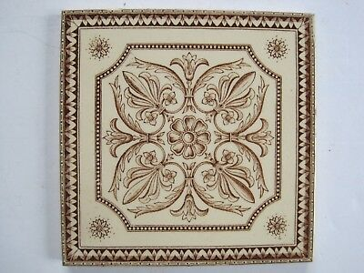 ANTIQUE VICTORIAN TRANSFER PRINT AESTHETIC DESIGN WALL TILE PATTERN No.1358