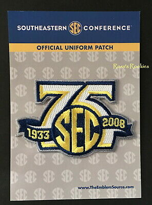 Sec 75Th Anniversary Official On Field Patch - Ncaa