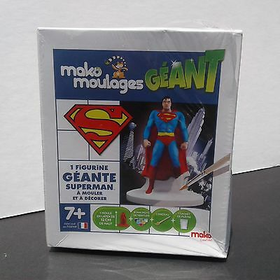 New Sealed Rare Mako Moulages Plaster Creations Superman Mold Statue France 2014