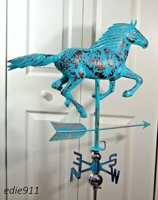 LARGE RUNNING HORSE 3D Functional Weathervane AGED COPPER PATINA FINISH Cupola