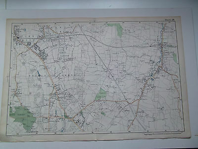 Bromley Common-Hayes-Orpington Vintage Bacons Large Street Map Date 1925