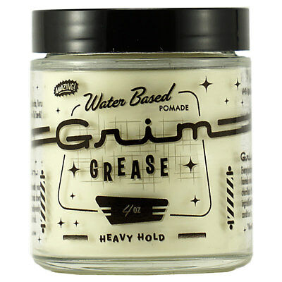 Grim Grease Water Based Pomade Heavy Hold 4oz