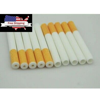 "US Seller—10 x 3"" Ceramic Cigarette Pipe One Hitter Tobacco Smoking Dugout Pipe"
