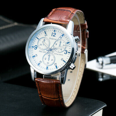 Military Watch Relogio Masculino Men Casual Watch Luxury Top Brand Leather Mens