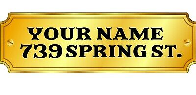 """Set Of Two Mailbox Numbers And Street Names 1 For Each Side /Pair  Up To 4""""H"""