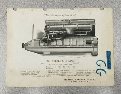 1923 Sterling Viking Engine Sales Folder