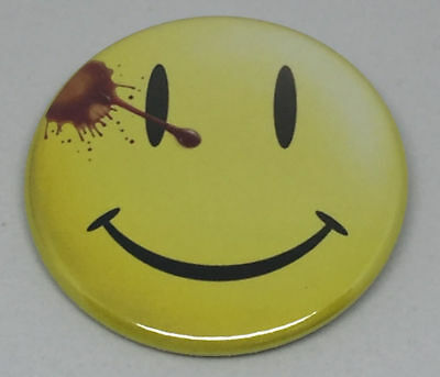 "Watchmen Smiley 50mm 2"" Pin Badge Button Faded / Degradado Chapa con imperdible"