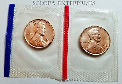 1961 P & D Lincoln Memorial Cent / Penny Set *MINT CELLO*  **FREE SHIPPING**