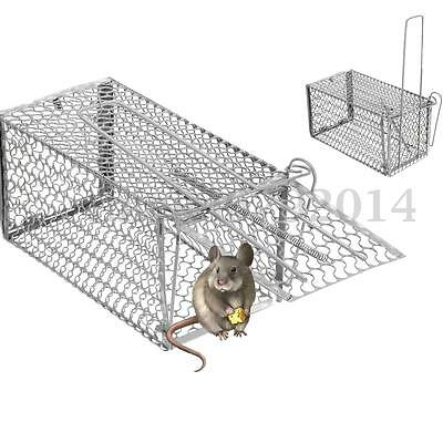 Rat Catcher Spring Cage Trap Humane Large Live Animal Rodent Indoor Outdoor !