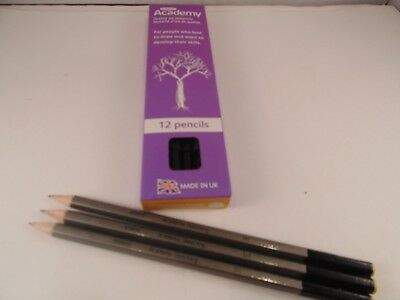 Derwent Academy Pencils Pack of 12 Choose your hardness