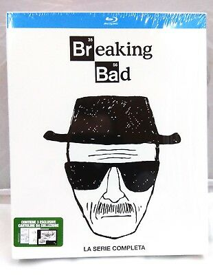 Breaking Bad Collection White Edition - La Serie Completa (16 Blu-Ray) + 3 Cart.