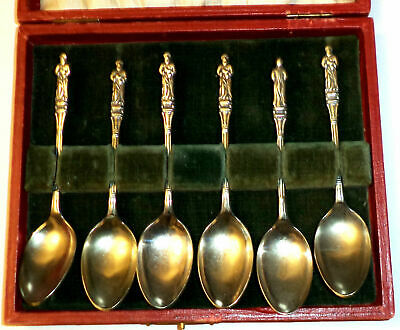 Apostle Spoons Silverplated In Box England