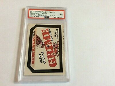 1974 Topps Wacky Paquetes 7 Series Grime Perro Chow Heavy Chunks PSA 7 NM