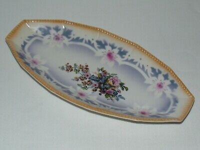 Vintage Antique Pottery Art Deco Floral Candy Tray