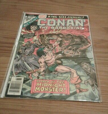 Marvel Comic Conan the Barbarian King Size Annual no 2 1976 50c USA,b and b.
