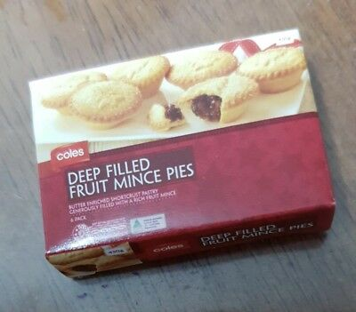Coles Little Shop Mini Collectable Filled Fruit Mince Pies Christmas Edition