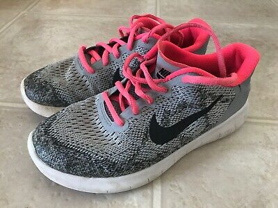 YOUTH GIRL/'S RUNNING SHOES NEW $80VALUE 904258 001 NIKE FREE RN 2017 GS
