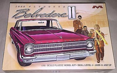 Moebius 1965 Plymouth Belvedere 1/25 scale model car kit new 1218