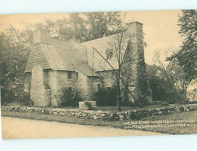 Postcard - Connecticut The Old Stone House Guilford, CT