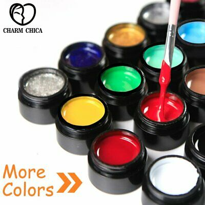 25 Colors CHARM CHICA Draw Painting UV Gel Polish Soak Off DIY Nail Art Lacquer