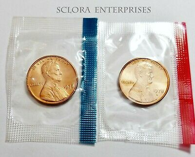 1978 P & D Lincoln Memorial Cent / Penny Set *MINT CELLO*  **FREE SHIPPING**