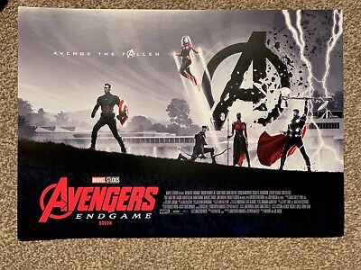 Marvel Avengers Endgame ODEON Poster 1 By Matt Ferguson UK official A3