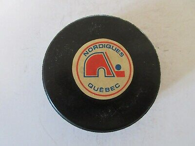 Quebec Nordiques NHL Viceroy Game Puck Rubberized Logos