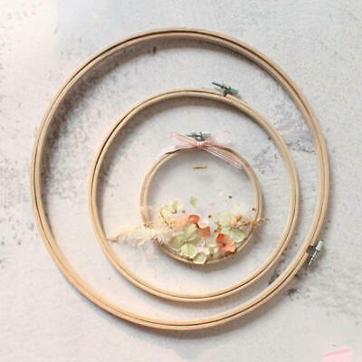 """Budget Wooden Bamboo Embroidery Cross Stitch Ring Wood Hoop 5"""" to 10"""" Inch Sizes"""