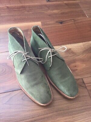 ac9032fd6783 JOHN WHITE WESTBURY GREEN Suede Desert Boots Size-9 GREAT FOR SUMMER