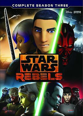 Star Wars Rebels: The Complete Season 3 (DVD, 2017, 4-Disc Set) W/ Slip Cover